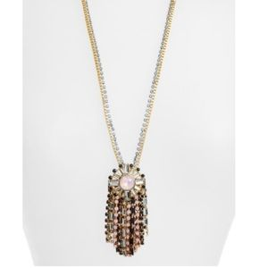 "Kate Spade ""clink of ice"" jeweled fringe necklace"